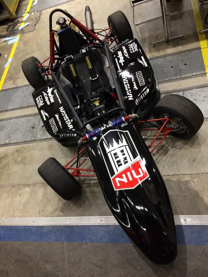 NIU FSAE racecar top