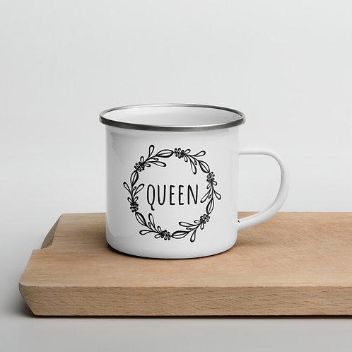Emaljmugg Queen