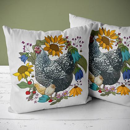 """Kuddfodral """"Blomsterhöna"""", MERA Textil"""
