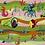 Thumbnail: Barnfilt Havsäventyr Grön