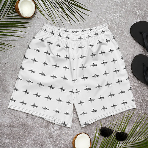 -Ⓜ️ AllOver Print Men's Athletic Long Shorts