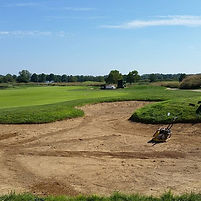 Sand pit renewal at tapawingo golf cours