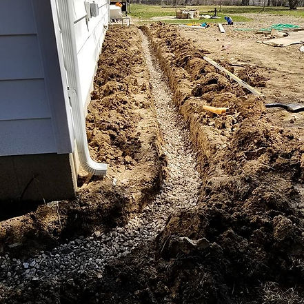 French drain installation is a great way