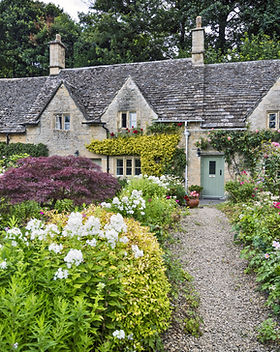 A row of cottages in Bibury, Gloucesters