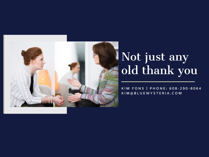 Not just any old thank you