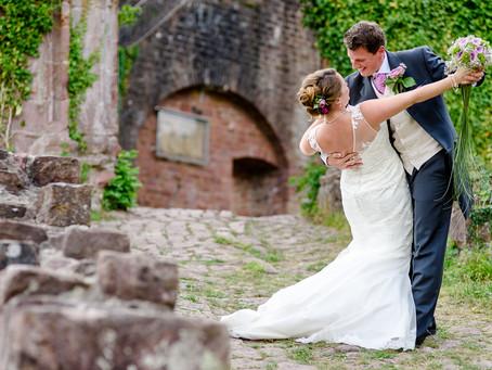 Sabrina und Jamie -Hochzeit auf der Mittelburg in Neckarsteinach