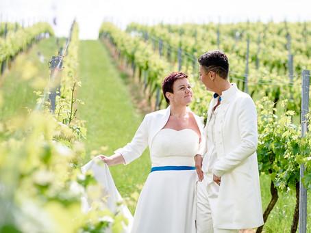 Kerstin und Marion feiern Hochzeit im Weintor in Schweigen-Rechtenbach