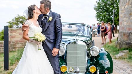 Lisa und Marc feiern Hochzeit auf dem Hambacher Schloß in Neustadt an der Weinstrasse
