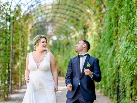 Verena und Michele feiern Hochzeit im Eichenstolz auf dem Gutshof Ladenburg