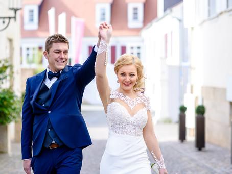 Jessica und Lukas feiern Hochzeit im Ketschauer Hof und im Weingut Bassermann-Jordan in Deidesheim