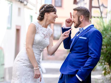 Patricia und Thomas feiern Hochzeit in der Ulner Kapelle Weinheim