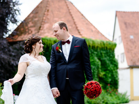 Céline und Fabian feiern Hochzeit im Schlosshotel Heinsheim in Bad Rappenau