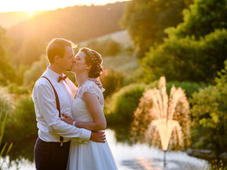 Sonja und Hendrik feiern Hochzeit auf dem Hofgut Hohenstein Lautertal