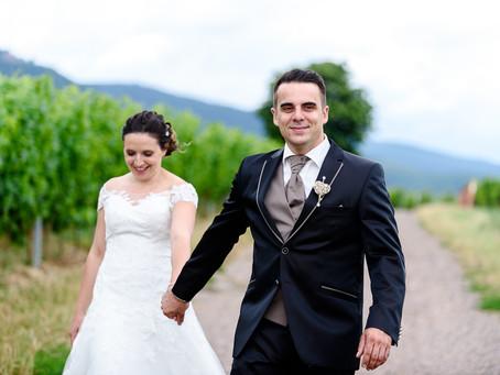 Lisa und Marco feiern Hochzeit auf dem Weingut Marienhof in Flemlingen