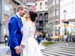 Christina und Carl feiern Hochzeit im Hotel Kasteel Vaalsbroek in Vaals in den Niederlanden
