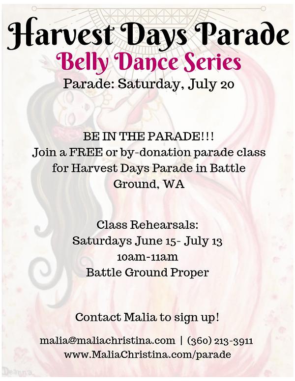 HARVEST DAYS PARADE Belly Dance Series.p