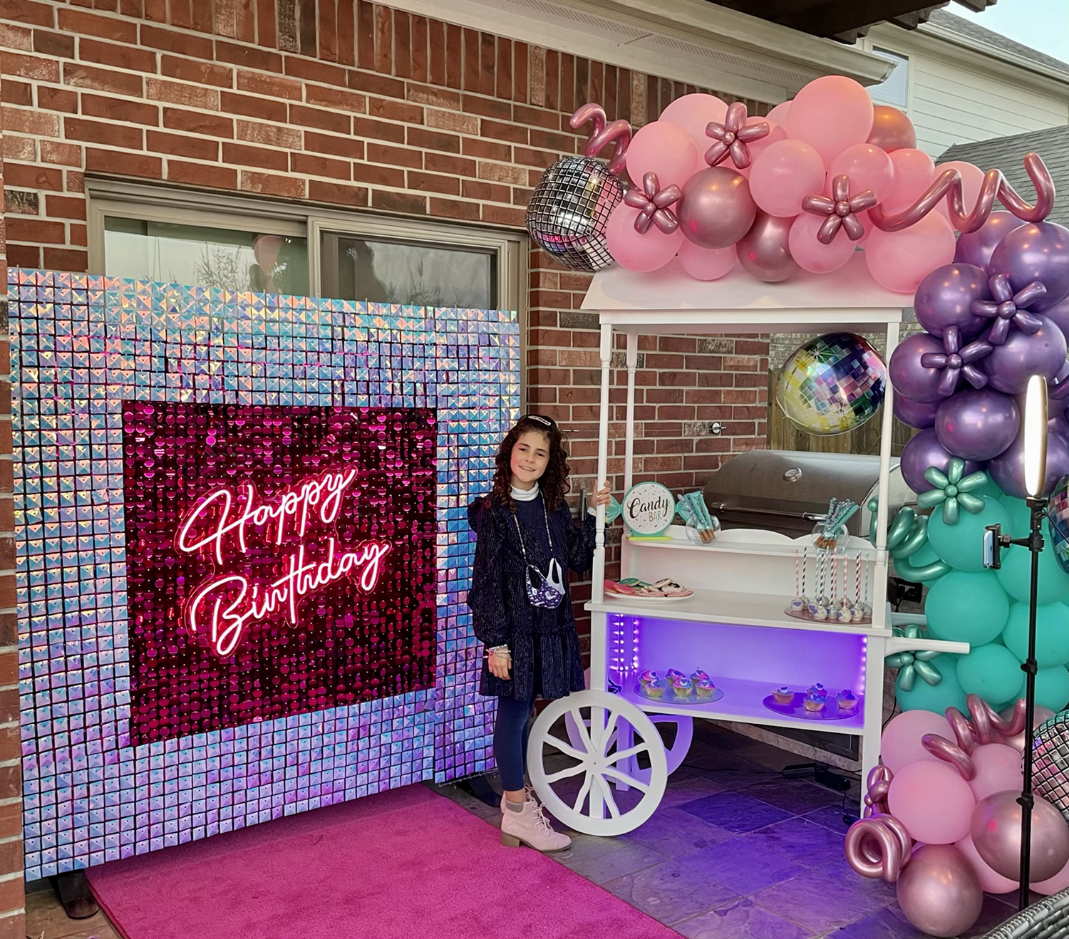 backdrop wall candy cart