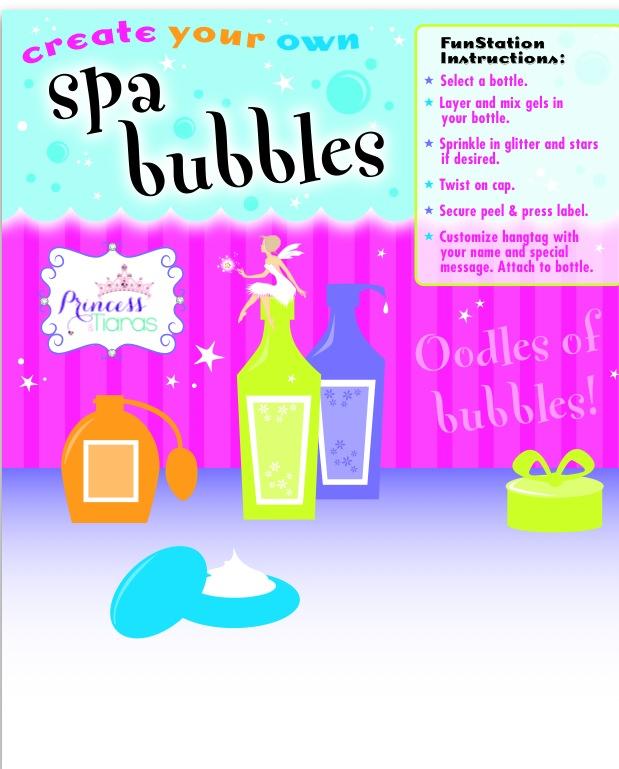 DIY Spa Bubbles - Favor Bar Station