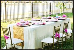 Table & Chiavari Chairs