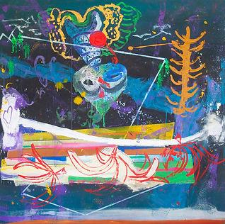 Invictus no. 1,mixed media on canvas,150