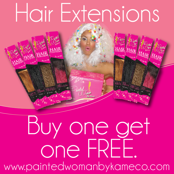HAIR EXTENSION BUYONEGETONE FREE