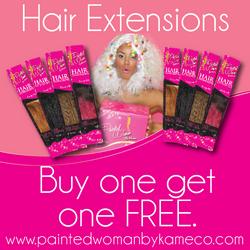 HAIR EXTENSION BUYONEGETONE FREE