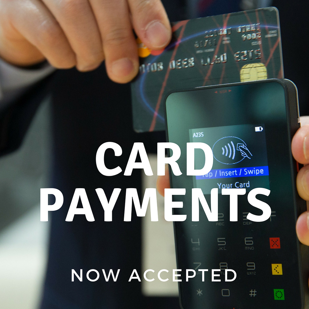Heaven on Earth Wellness Therapies now accepting card payments