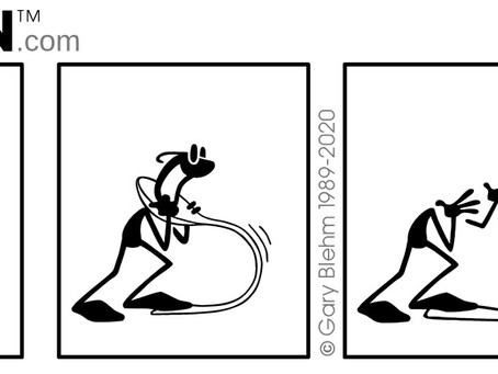 "PENMEN Comic Strip ""Spoon Toss"""