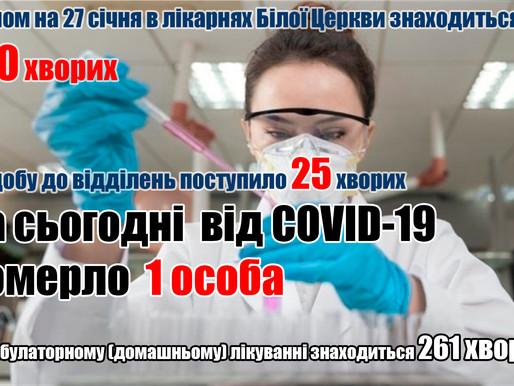 Від COVID-19 померла 1 людина (27 січня)
