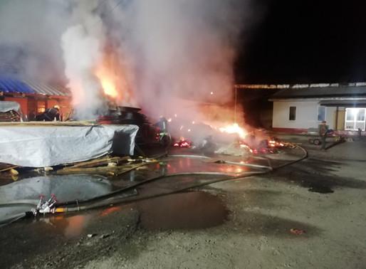 Пожежа столярного цеху у Білій Церкві (Гайок)