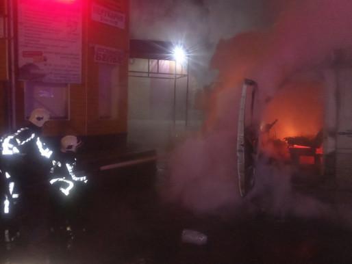 Загорівся автомобіль по вул. Леваневського (відео)