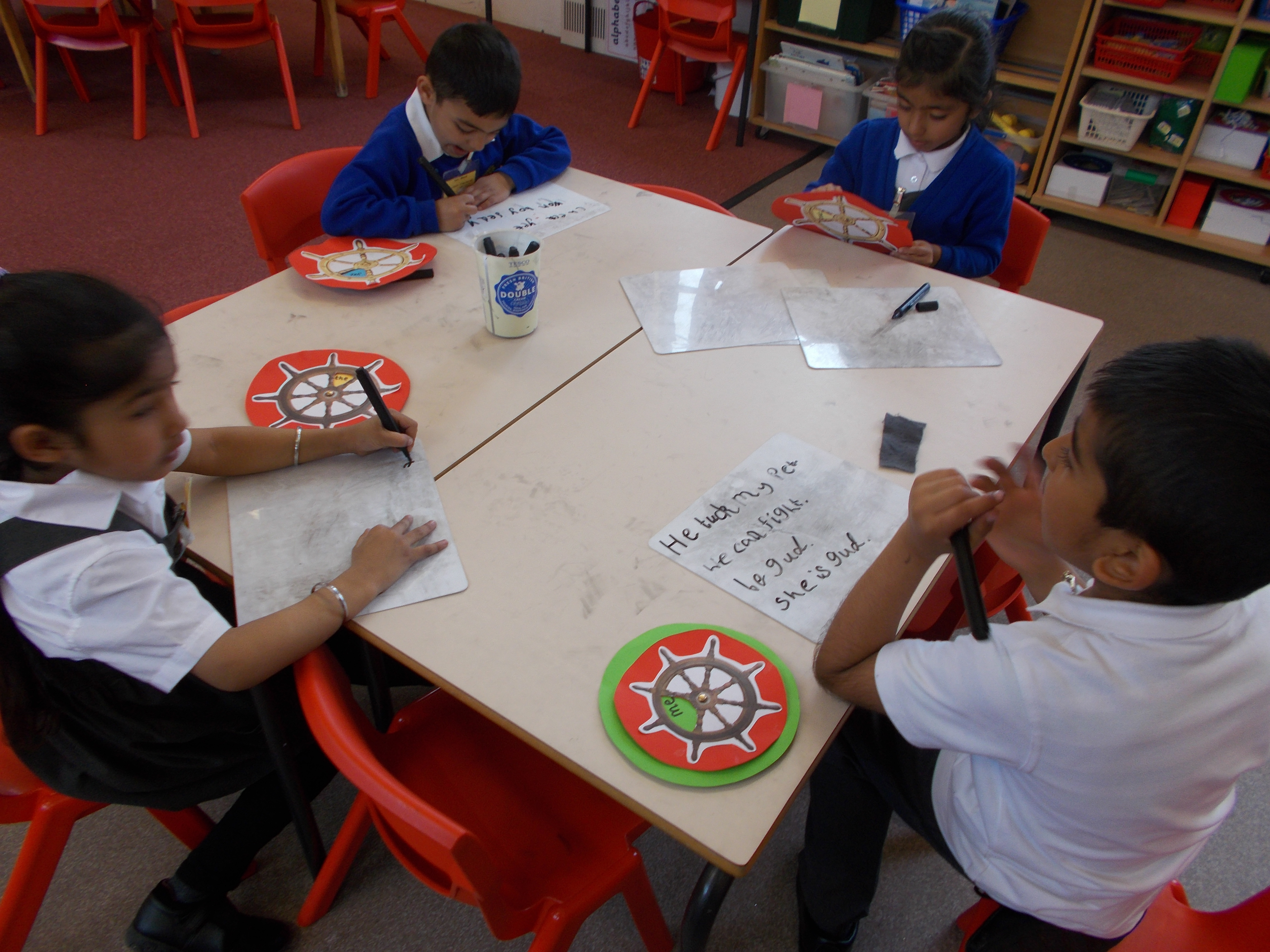 Writing red class