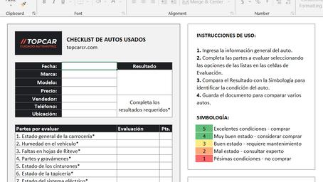 Checklist para evaluar autos usados