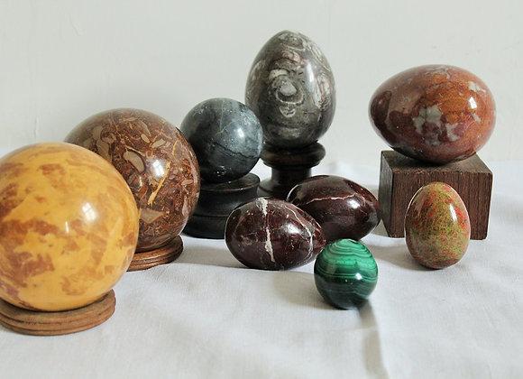 marmer eieren en bollen
