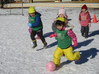 雪上サッカー