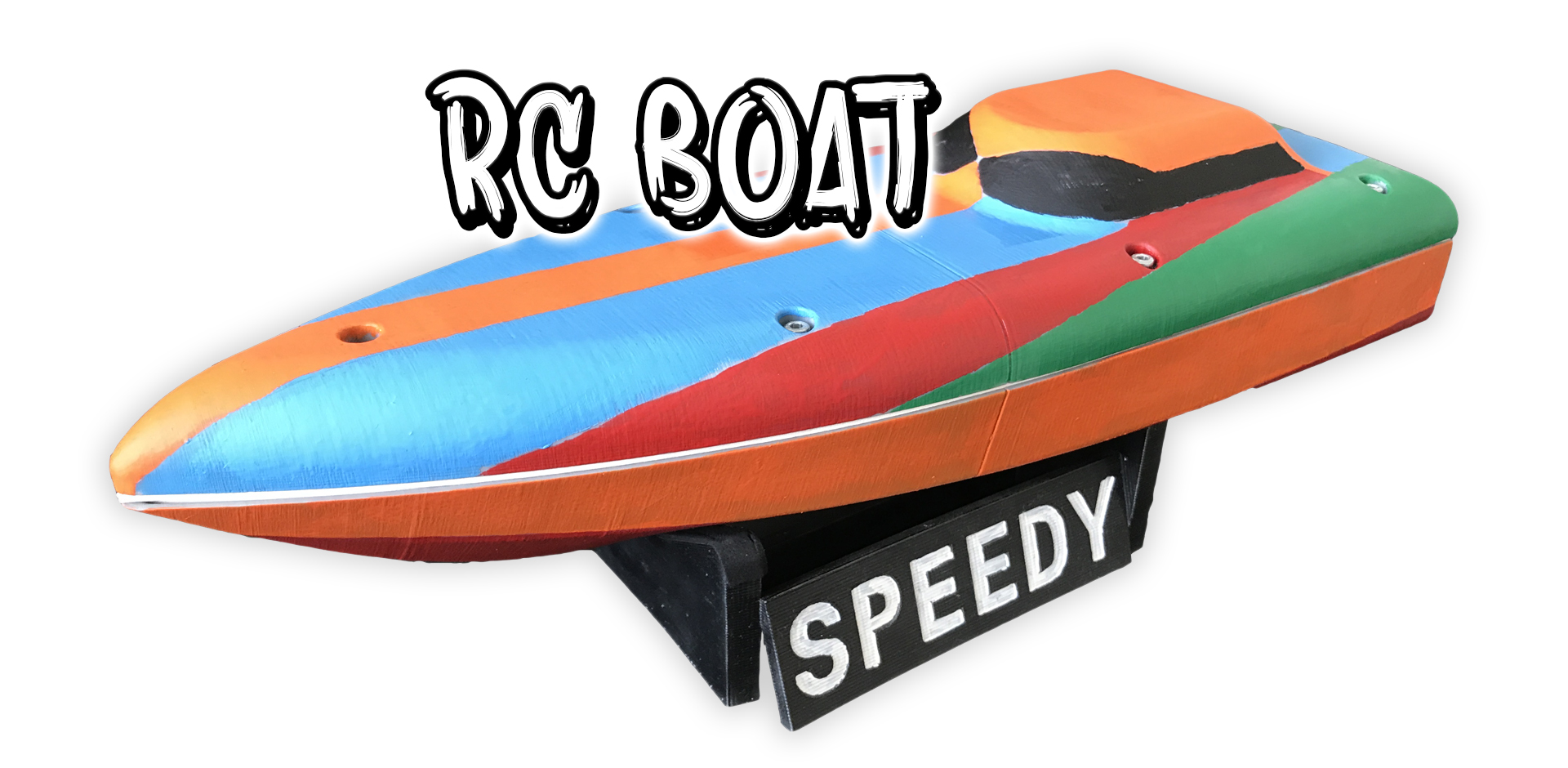 3D Printed RC Boat - SPEEDY_SLIDE