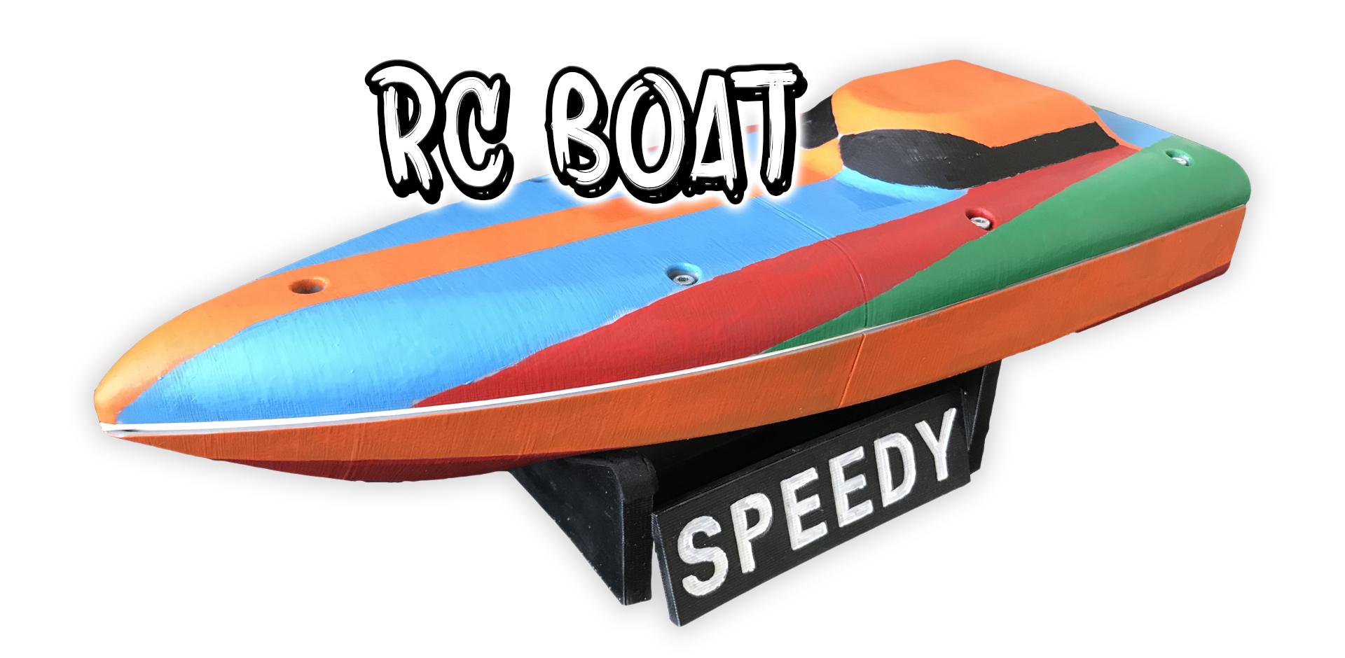 3D Printed RC Boat - SPEEDY_SLIDE