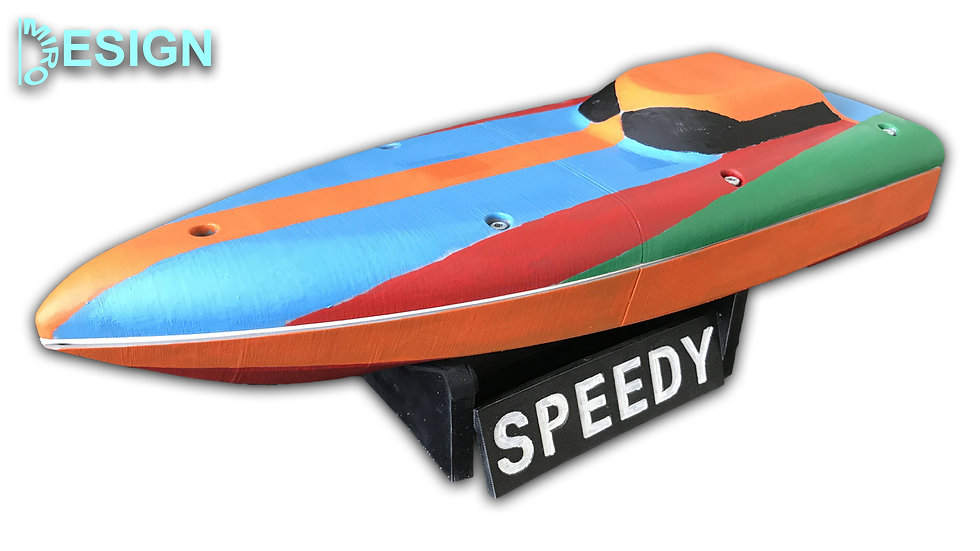 3D Printed RC Boat - SPEEDY