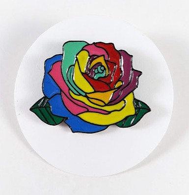 Épinglette: Rose colorée