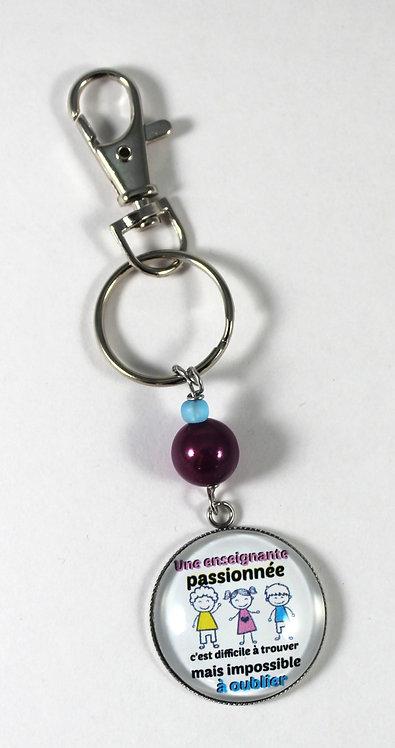 Porte-clés ''Une enseignante passionnée'' (#74)