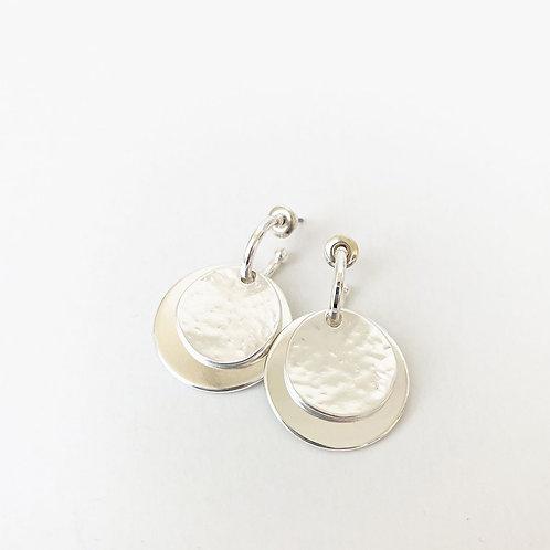 Boucles d'oreille Caracol, Pastille, Argent, 2434-SLV