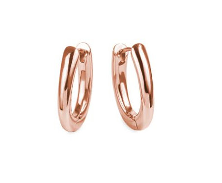 Boucles d'oreilles dormeuses ovales, Acier inoxydable, Or rose