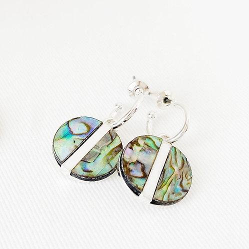 Boucles d'oreille Caracol, Abalone, Argent, 2407-MIX-S