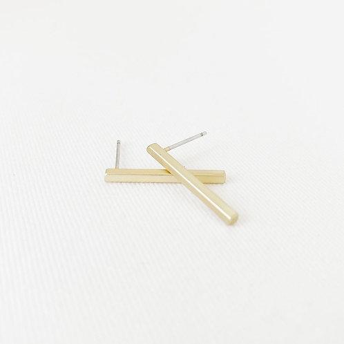 Boucles d'oreille Caracol, Bâton, Or mat, 2213-GLD-M