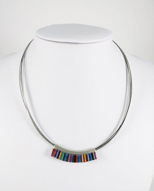 Copie de Collier Créart, Axia simple, rayure multicolore