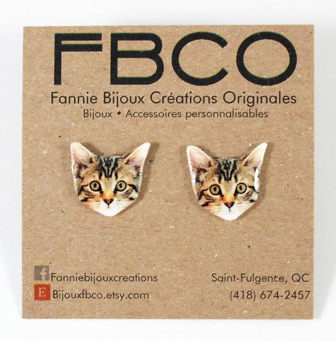 Boucles d'oreille FBCO ''Chat''