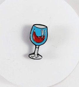 Épinglette: Verre de vin