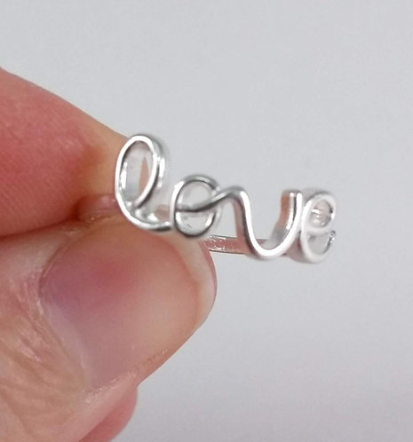 Bague Love, Argent