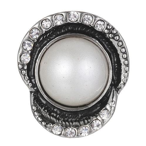 Bouton pression (snap) Nomaad Interchangeable, Perle contour asymétrique cristal