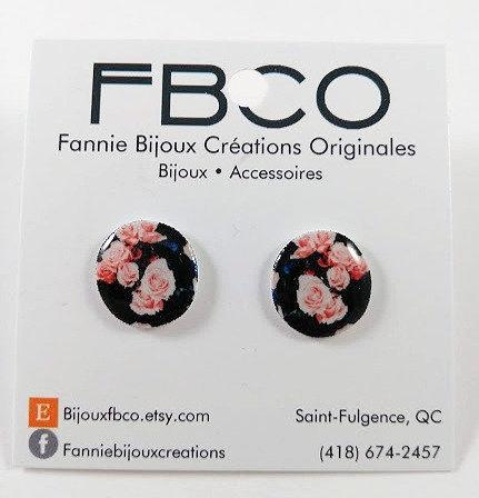 Boucles d'oreille FBCO ''Cercle: rose''